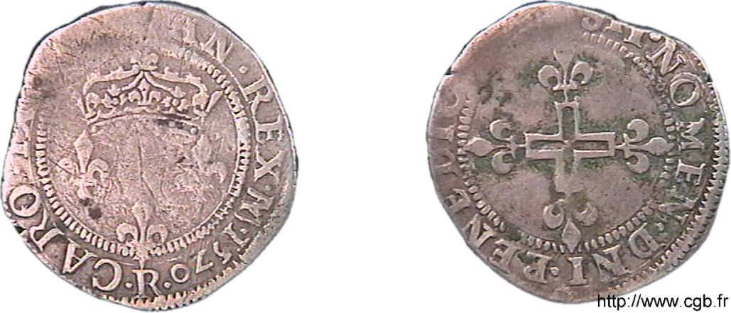 Double sol parisis 1569 R à identifier F04_0136