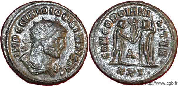 (Ok) Antoninien de Dioclétien (3e officine, Antioche) R04_0255